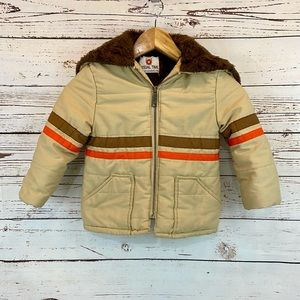 Vintage Boys Winter Coat Casual Time 60's 70's